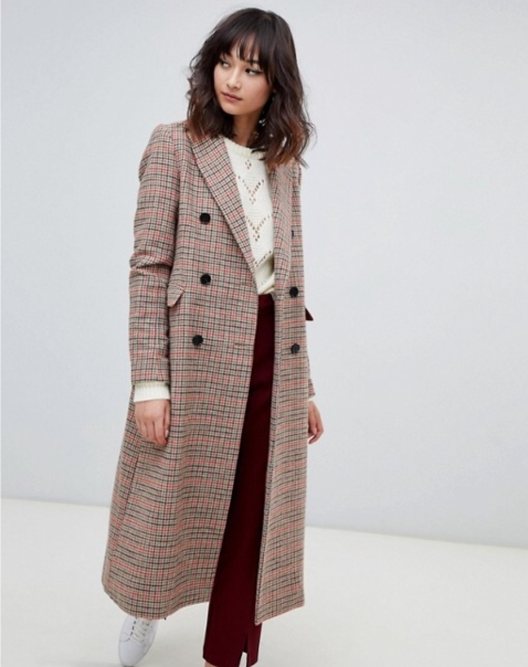 Brown plaid coat 2ndDAY